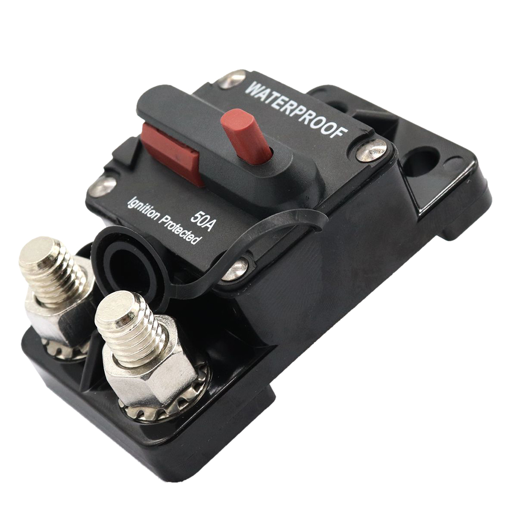 50A Auto Boat Waterproof Switchable Electrical Manual Reset Circuit Breaker