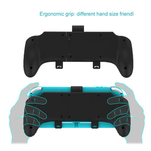 Image 2 - For Nintend switch/Switch Lite 2019 Ergonomic Stretchable Handle Grip Protection Shell Case Detachable Stand For Nintendo Switch