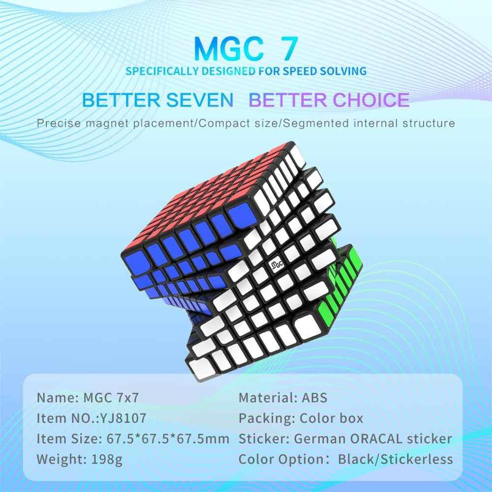 YJ MGC M 7x7 67,5 мм скоростной куб головоломка Магнитная соревнование YongJun Волшебный куб WCA детские игрушки