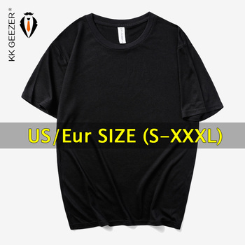 US/Eur Plus Size Men T Shirt Oversized 2019 TShirt Solid Color Short Sleeve T-Shirt Mens Black White Tees Shirt Summer Tshirt