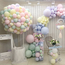 Macaron Color Latex Balloons10pcs 10 inch Festival Birthday Party Decorative Balloons Sweet Colorful Party Hanging Decoration(China)