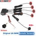 Koorinwoo 16.5mm Flat Original Sensor Car Dual Core CPU Parking Radars Sensor Black White Reverse Backup Assistance Alarm System