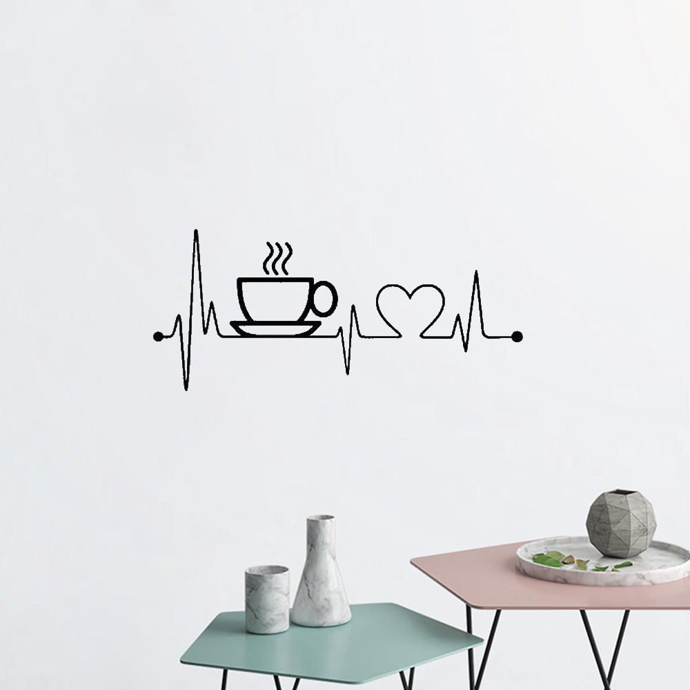 Coffee Cup Vinyl Wall Stickers For Kitchen Art Home Decor Playroom Murals Aliexpress