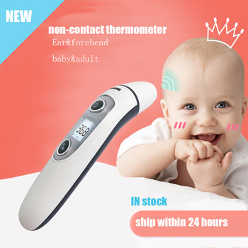 Baby Thermometer Digital Infrared IR LCD Baby Forehead and Ear Non-Contact thermometer Adult Body Fever Measurement Termometro