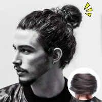 100% cabello humano Chignon Afro cabello falso moño piezas Donut accesorios para mujeres Clip en extensión de cabello Remy Scrunchie