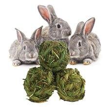 1 sztuk Timothy Grass królik piłka do żucia trawa szlifowanie zagraj w gryzaki dla królików króliki chomik świnki morskie Gerbils