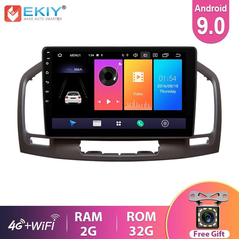 EKIY 9 ''IPS Android 9,0 Автомагнитола для Buick Regal для Opel Insignia 2009-2013 мультимедийный видеоплеер GPS навигация 2din DVD