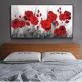 Маки картины на холсте с цветами на стену художественные плакаты и принты красные цветы холст искусство настенные картины для кровати комн...