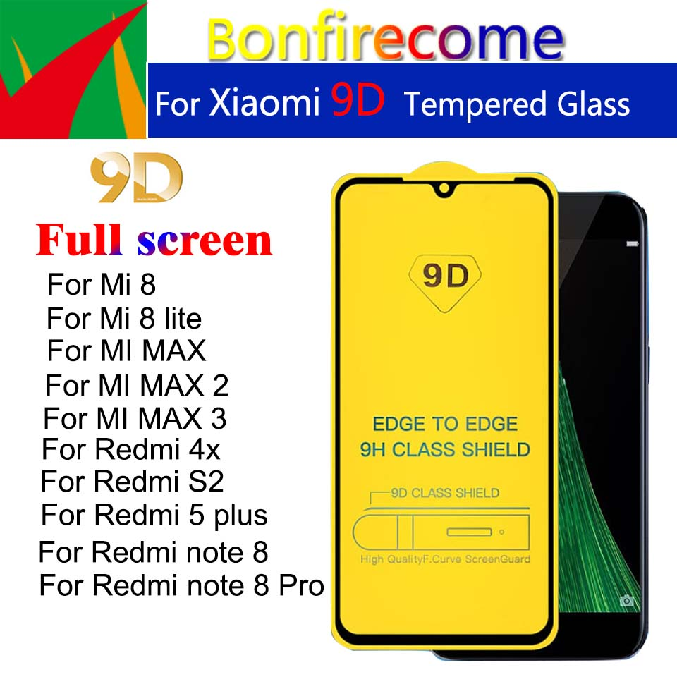 10Pcs For Redmi note 8 Pro Full Cover Tempered <font><b>Glass</b></font> For Remdi 4X S2 5Plus Screen Protector For <font><b>Xiaomi</b></font> <font><b>Mi</b></font> 8 lite <font><b>Mi</b></font> <font><b>max</b></font> 1 <font><b>2</b></font> 3 image