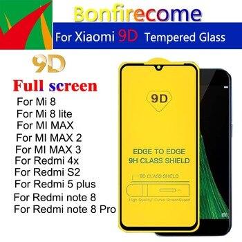 10Pcs For Redmi note 8 Pro Full Cover Tempered Glass For Remdi 4X S2 5Plus Screen Protector For Xiaomi Mi 8 lite Mi max 1 2 3
