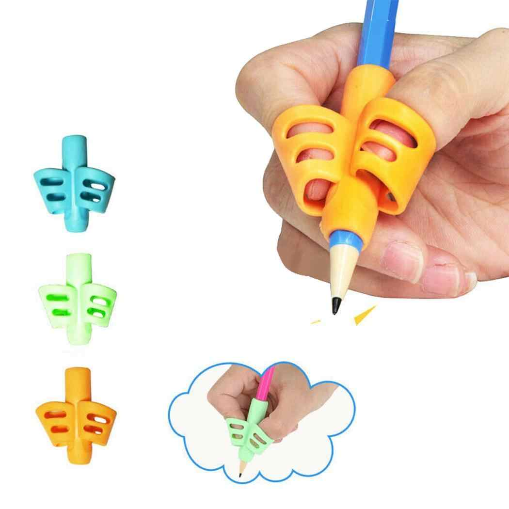 Children Two-finger Pencil Holder Pen Writing Aid Grip Posture Correction Tools As picture