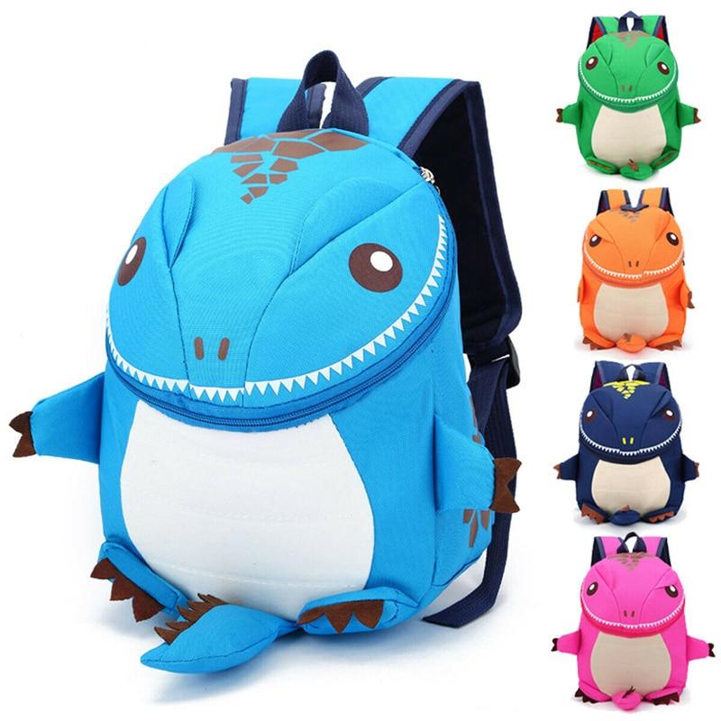 Children Kids School Bag Cartoon Dinosaur Shape Kindergarten Kids Backpack