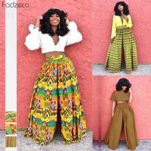 Fadzeco Новые африканские брюки наряды женские цветочные печати