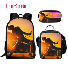 Thikin The Queen Band School Bags for Boys 3pcs/set Students Supplies Preschool Backpack Bookbag With Lunch Boxes Satchel
