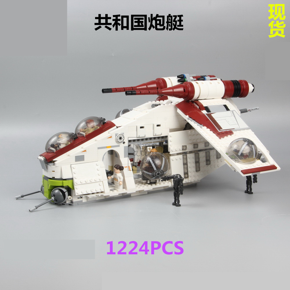 <font><b>05041</b></font> Wars on Star Toy Republic Gunship Set Compatible with lepining Star Wars Ship for Children Educational Blocks Gift Boy image