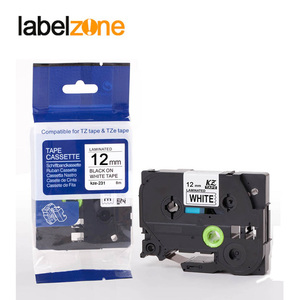 Image 3 - 10 pcs Compatible for brother label tape Tze 231 Tze231 tze 231 P touch label printer Ribbon label maker 12mm*8m Black on white