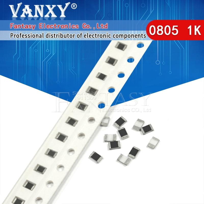 300 шт. 0805 SMD резистор 1% 1K Ом 1/8 Вт 102