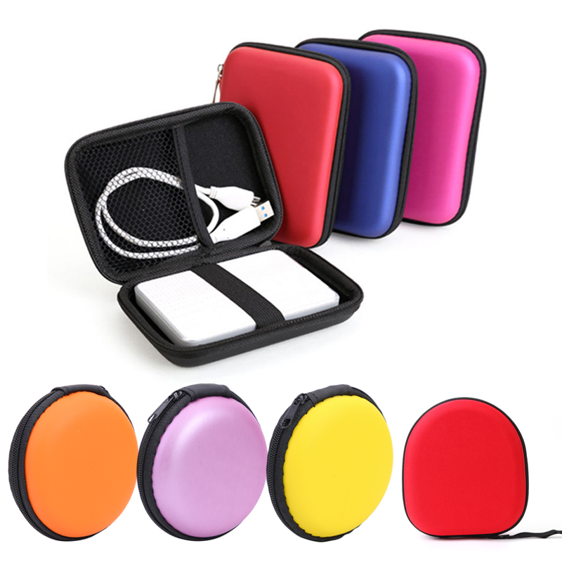 """2.5"""" External Storage USB Hard Drive Disk Case HDD Carry Case Portable Pouch Multifunction Cable Earphone Headset Box Bag"""