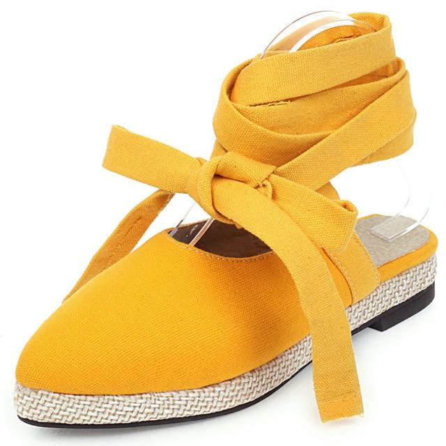 Karinluna Dropship Dropship Plus Size 46 Flat Shoes women's Summer Gladiator ankle-wrap Sandals Woman