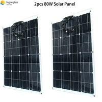 2PCS 80W 18 Volt Solar Panel China Solarzelle/Modul/System Ladegerät/Batterie Flexible 160 watt Solar Panels