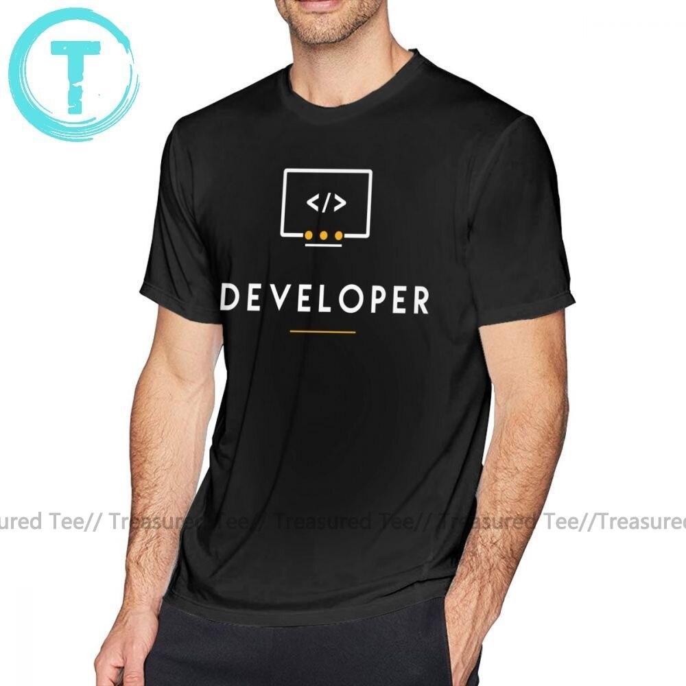 Developer T Shirt Developer T-Shirt Beach Big Tee Shirt 100 Cotton Funny Male Short Sleeve Print Tshirt