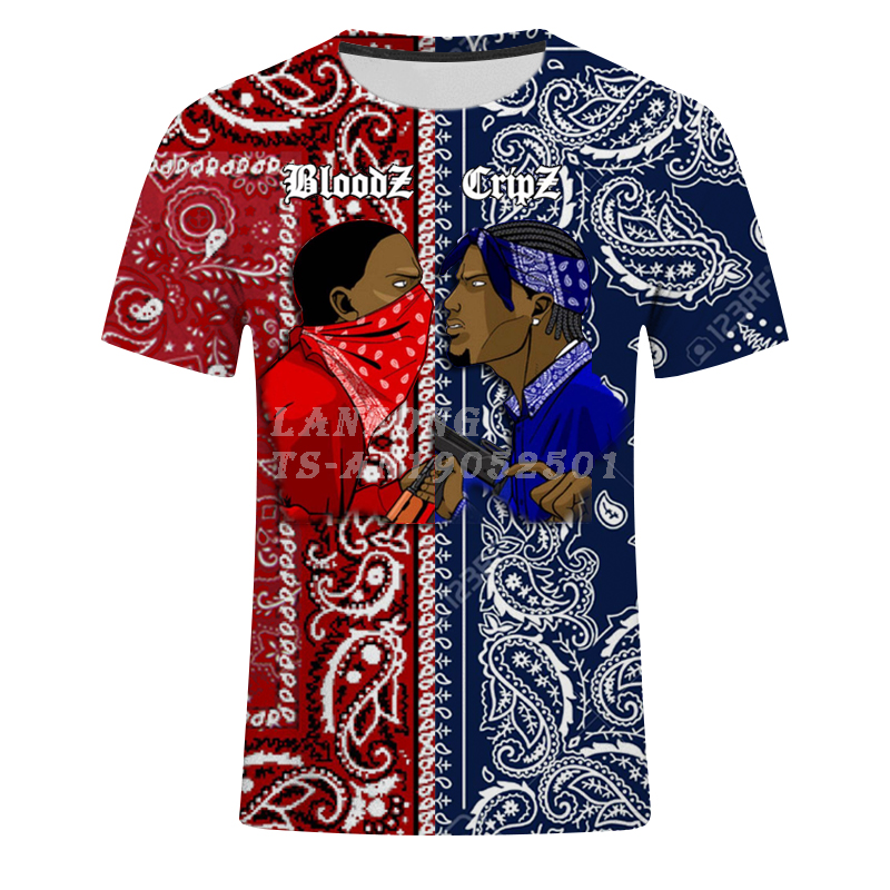 3d Print Blood Gang Mens Vests/tshirts/sweatshirts/zip Hoodies/pants New Harajuku Funny Casual Streetwear Tracksuit Top Hip Hop