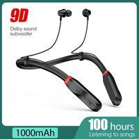 TWS 100 horas inalámbrica Bluetooth auriculares deportivo magnético corriendo auricular IPX5 impermeable auriculares de reducción de ruido auriculares