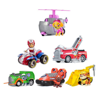 Paw Patrol Everest Rescue Racers Figure Toy Tracker Jungle Pup rocky Ryder patrulla canina toys Puppy Patrol Cars Toy фото