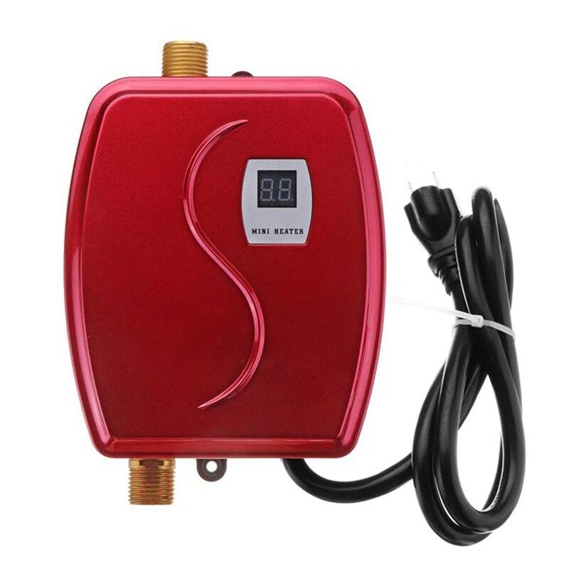 3000W chauffe-eau Mini sans réservoir instantané robinet chaud cuisine chauffage Thermostat Intelligent économie d'énergie étanche US Plug