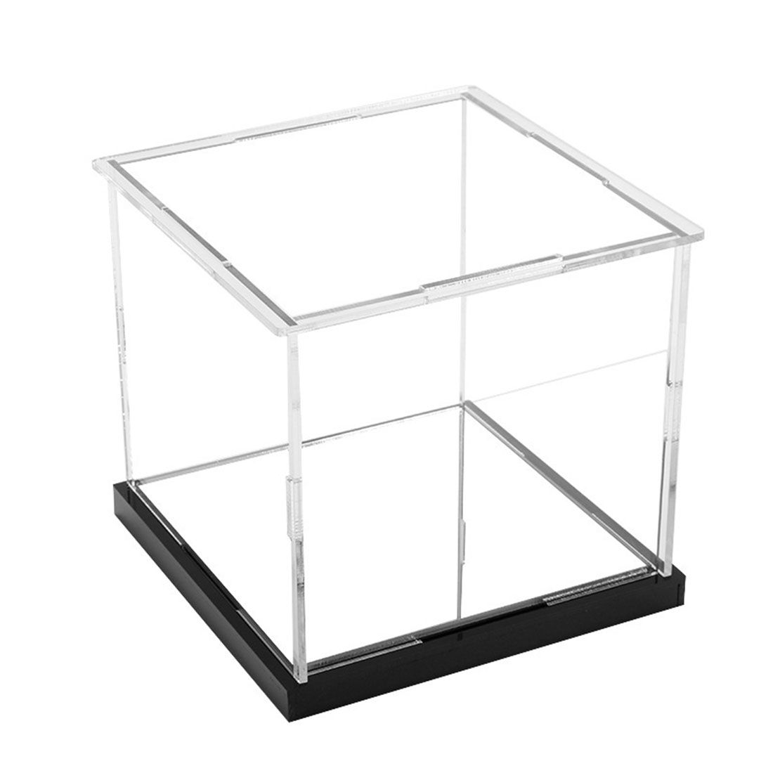 10 X 10 X 12cm Acrylic Dustproof Box Display Box With Mirror Base/Or No For Funko Pop - Transparent