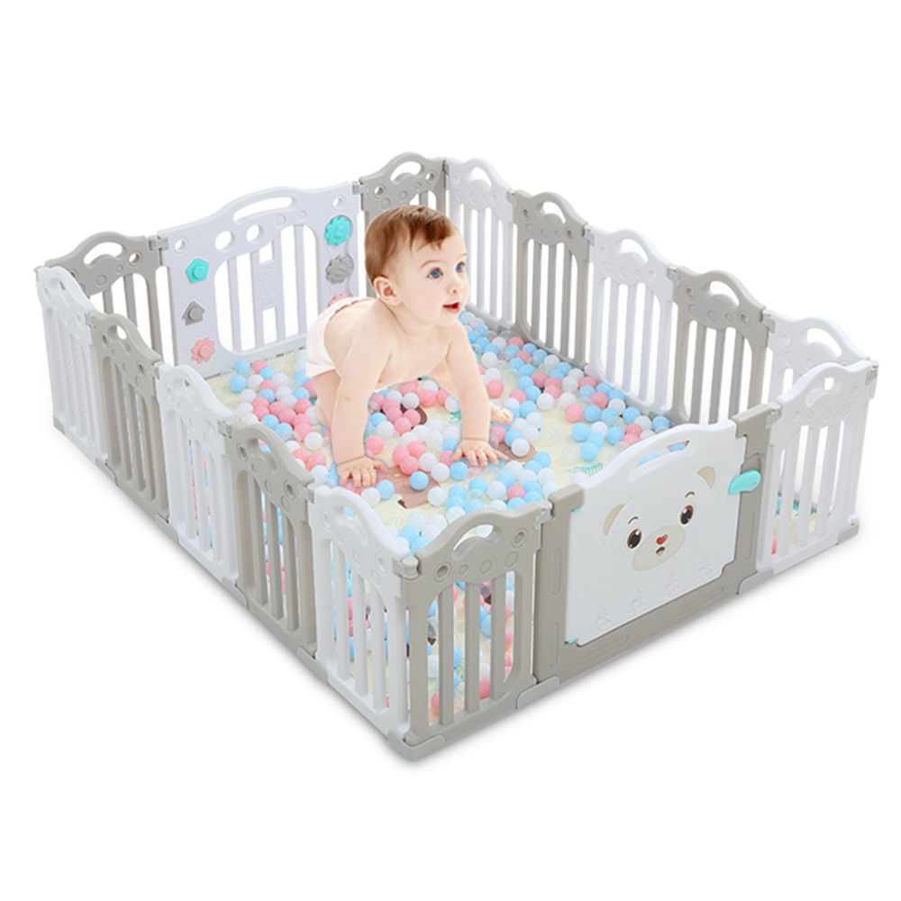 New Baby Playpen Kids Activity Centre Safety Play Yard Home Indoor Outdoor Fence Pool Ball Infants Fence Game Guardrail