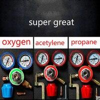 용접 공구 압력 표시기 산소 아세lene 프로판 이산화탄소 체크 용접기 병 테스트 테이블 포인터 스타일