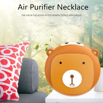 Poręczny oczyszczacz powietrza naszyjnik przenośny Mini jonizator USB jonizator odświeżacz powietrza jonów ujemnych Generator ozonu dla dorosłych Kid tanie i dobre opinie CN (pochodzenie) Other