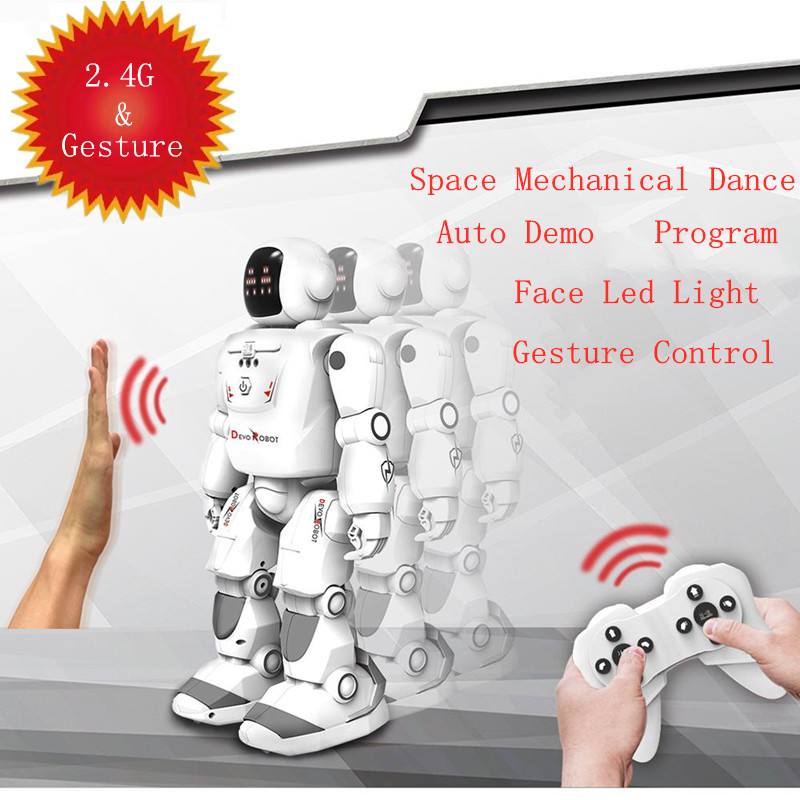Space Dance Robot Smart Touch & 2.4G RC Robot Programmable Infrared Gesture Control DancIing Singing  LED Expression Robot Gift