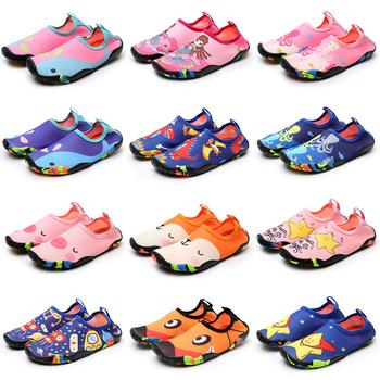 Dziecięce buty do wody buty z palcami dziecięce trampki buty do wody plażowe sandały Upstream szybkie suche rzeki morskie nurkowanie buty do pływania tanie i dobre opinie KLEINE KINDER CN (pochodzenie) Dobrze pasuje do rozmiaru wybierz swój normalny rozmiar Spring2019 Wsuwane Początkujący
