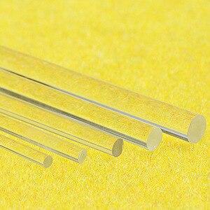 20 unidades de barras transparentes de acrílico de plexiglás Lucite 2mm/3mm/4mm/5mm/6mm/8mm/10mm/12mm 50 cm de largo, kits de modelos de resina