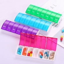 1 Pcs Confectionery Color Pill Storage Kit Portable Seven Minute Weekly Mini Box Container Plastic
