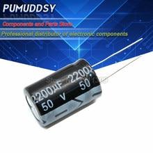 10 pces higt qualidade 50v2200uf 16*25mm 2200uf 50v capacitor eletrolítico