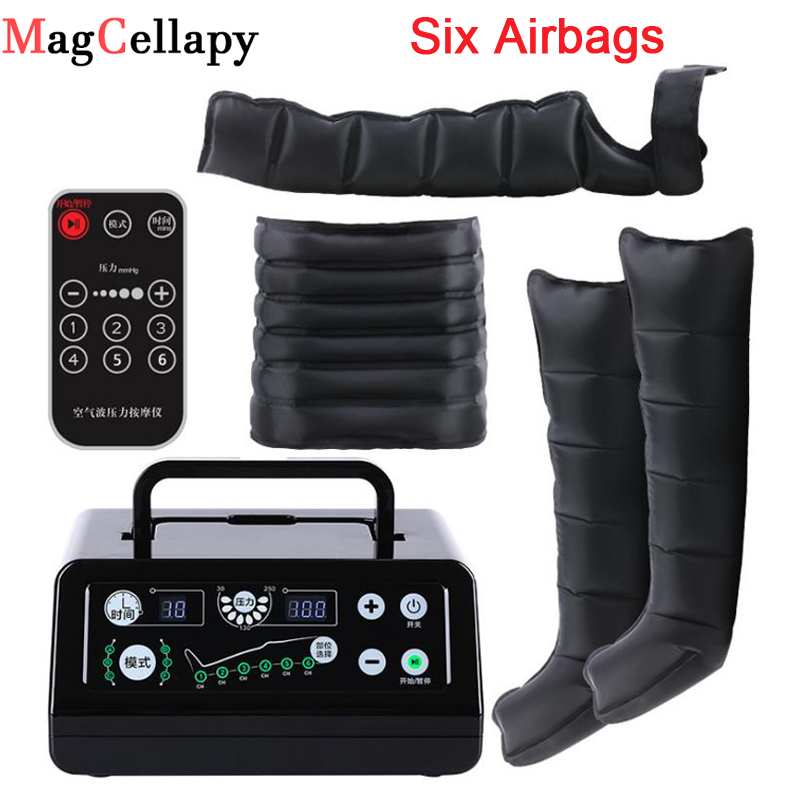 Electric Air Compression Leg Massager Leg Wraps Pump Vibration Infrared Therapy Arm Waist Pneumatic Air Wraps Relax Pain Relief