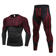 New Men Thermal Underwear Sets Compression Fleece Sweat Quick Drying Thermo Underwear Male Clothing