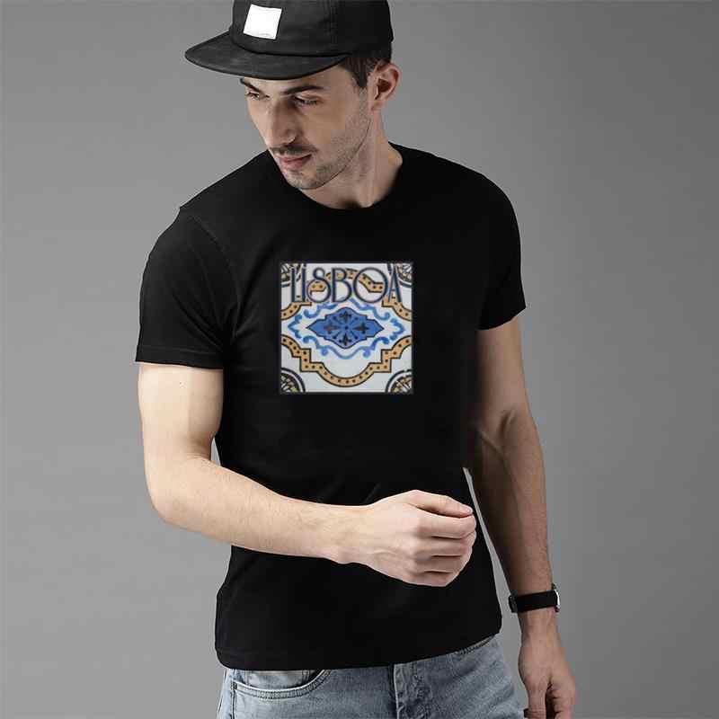 Vintage Cool Lisboa Lissabon Portugal ventilador presente camiseta s-83xl antiarrugas red sox Kawaii homme camisetas