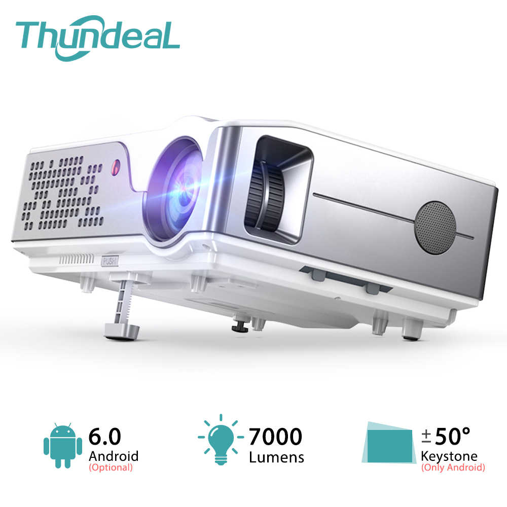 ThundeaL Full HD Native 1920X1080P WiFi Android 6.0 Proyektor 7000Lumens Proyektor Home Theater 3D Video projector