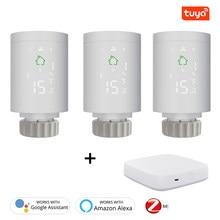 Tuya ZigBee3.0 термостат Smart радиатор привод программируемый домашний обогреватель Температура Управление; Голос Управление через Alexa Google
