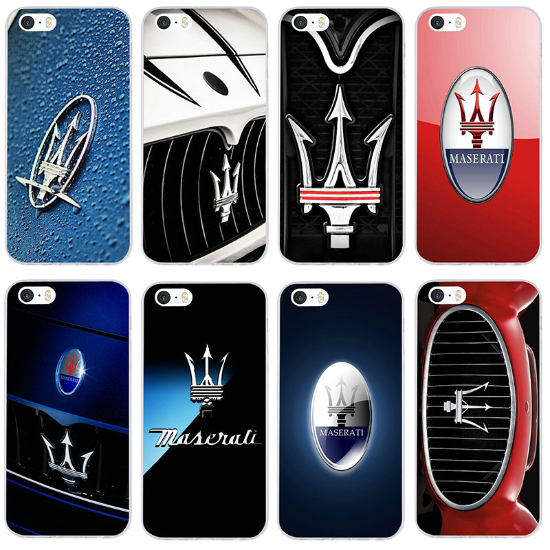 Maserati Car Logo Soft TPU Silicone Mobile Phone Cases Bags for iphone 7 6S 6 8 Plus 5 5S 5C SE X XR XS 11 Pro Max 4 4S Shell image
