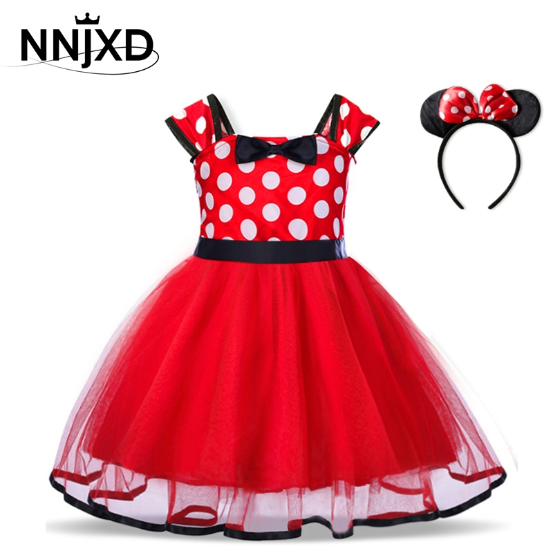 Baby Birthday Dress Girls Christmas Dress Baby Girl New Year Dress Up Clothes Birthday Party Polka Dots Casual Wear Vestidos 1