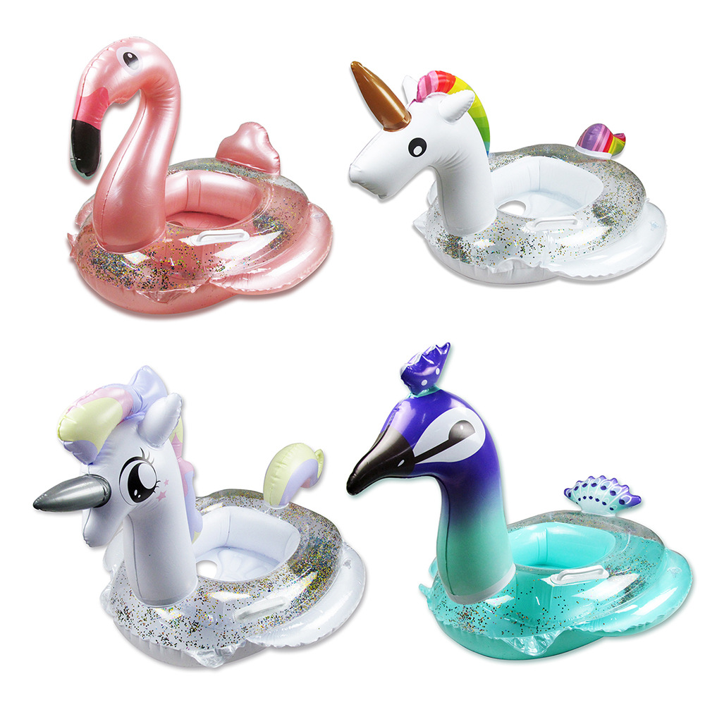Anneau de natation gonflable cercle flamand rose   Siège, Tube flottant, lit radeau, bouée de vie, jouets d'eau sûrs