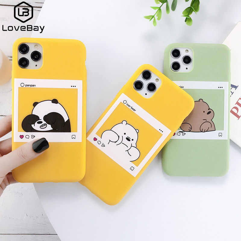 Lovebay Phone Case For iPhone 11 Pro Max X XS XR Xs Max Funny Cartoon Bear Soft TPU Silicone Back Cover For iPhone 6 6s 7 8 Plus