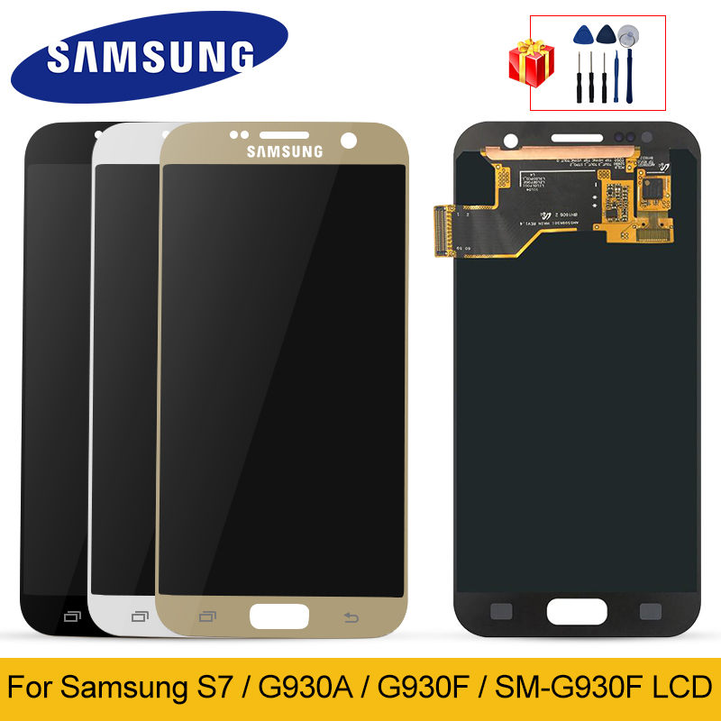 Original For <font><b>Samsung</b></font> <font><b>Galaxy</b></font> <font><b>S7</b></font> <font><b>Display</b></font> G930A <font><b>G930F</b></font> SM-<font><b>G930F</b></font> <font><b>LCD</b></font> <font><b>Display</b></font> Touch Screen Digitizer Replacement For <font><b>Samsung</b></font> G930 <font><b>LCD</b></font> image