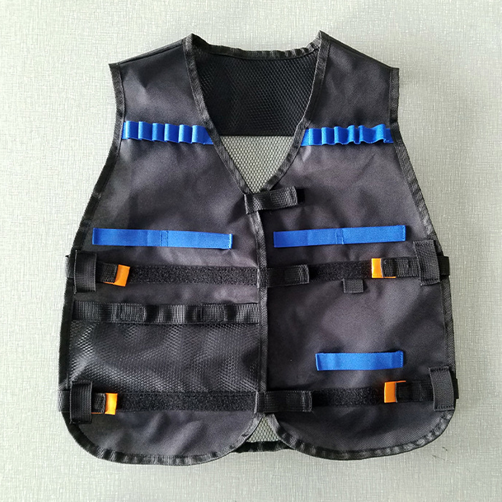Tactical Vest Kids Toy Gun Clip Jacket Foam Bullet Holder for Nerf N-Strike Elit