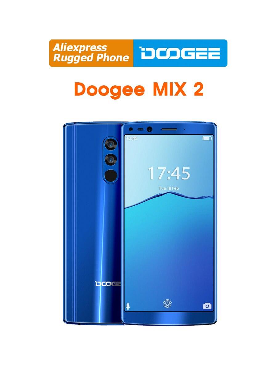DOOGEE Mix 2 6GB RAM 64GB ROM Helio P25 Octa Core 5.99'' FHD+ Smartphone Quad Camera